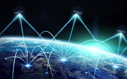 Satellite Communicating with Ground